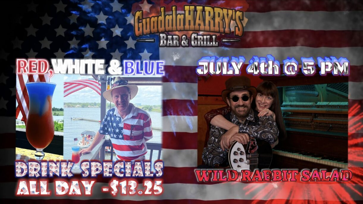 A picture of Live Music July 4th On Lake Conroe: Wild Rabbitt Salad at Guadalaharry's Bar & Grill